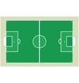 Detailed soccer field vector