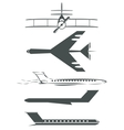Airplane symbols vector