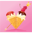 Ice cream heart vector