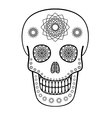 Ornamental skull vector
