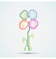 Logo circuit flower vector