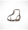 Boot grunge icon vector