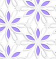 Floristic white seamless vector