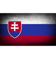 Flag of slovakia with old texture vector