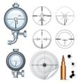 Sniper scope target crosshair clip art vector