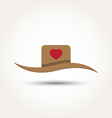 Love heart hat vector