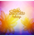 Palm tree sunset typography poster vector