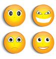 Smiley face set vector