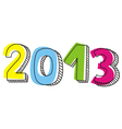 New year 2013 hand drawn doodle sign vector