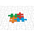 Many-colored puzzle pattern vector