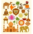 India icon set vector