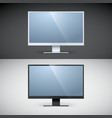 Computer displays on black and white backgrounds vector