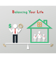 Idea balance your life business concept vector
