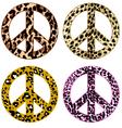 Animal print peace design vector