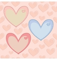 Seamless valentines day pattern with hearts with vector