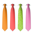 Polka and pin dots silk ties vector