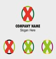 X logo company name symbol letter x vector