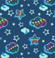 Rainbow celestial pattern vector
