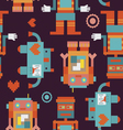Trio robots seamless pattern vector