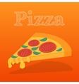 Slice of pizza margarita flat vector