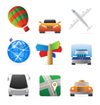 Icons for transportation vector