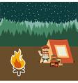 Camping adventure vector