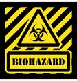 Biohazard sign yellow and black vector