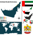 United arab emirates map world vector