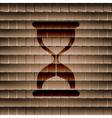 Sand clock glass timer  flat modern web button and vector