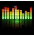 Music equalizer bars on black background vector