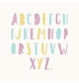 Hand drawn old textured font vector