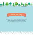 Forest and city background vector