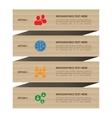 Modern minimal vintage cardboard style social vector