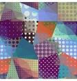 Geometric patchwork pattern vector