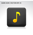 Music sound icon gold vector