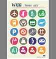 Customs and transport urban web icons set vector