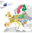 The european union map vector