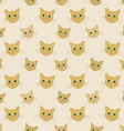 Faces of yellow cats - seamless kid pattern vector