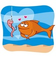 Fish and bait vector