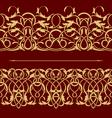 Gold floral seamless border vector