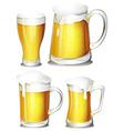 Set of beer vector