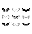 Different wing designs vector