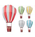 Hot air balloon set vector