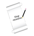 Stop recession color vector