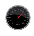 Black speedometer vector