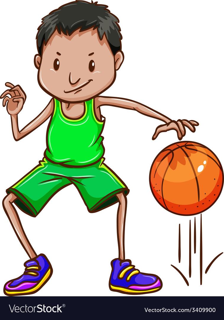 A boy wearing a green uniform vector | Price: 1 Credit (USD $1)