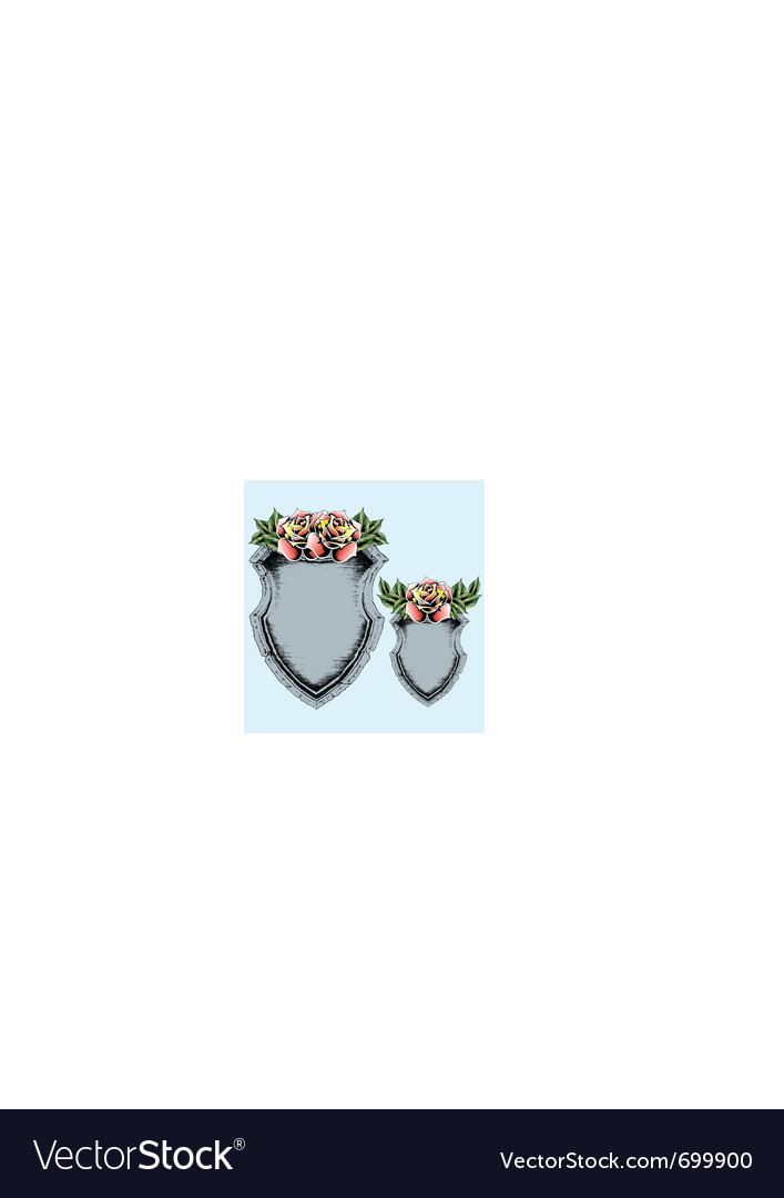 Classic antique shield with rose vector   Price: 1 Credit (USD $1)