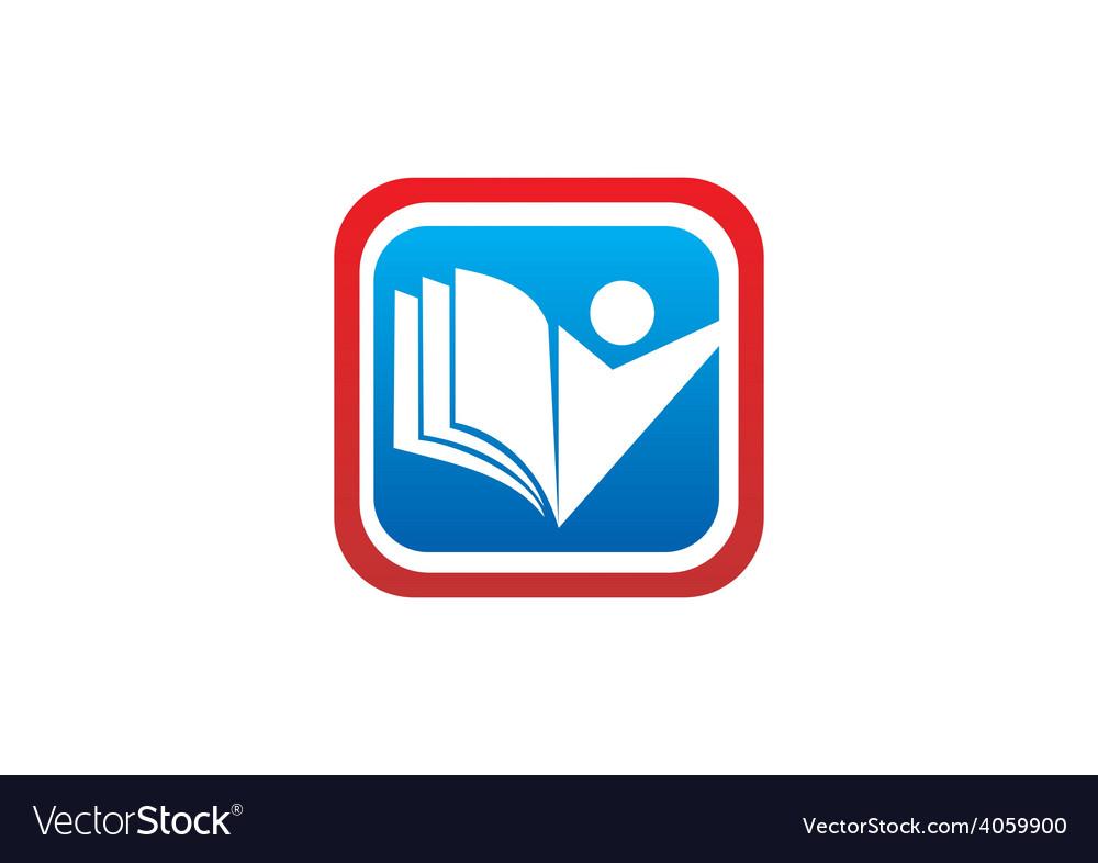 Education icon student book logo vector | Price: 1 Credit (USD $1)
