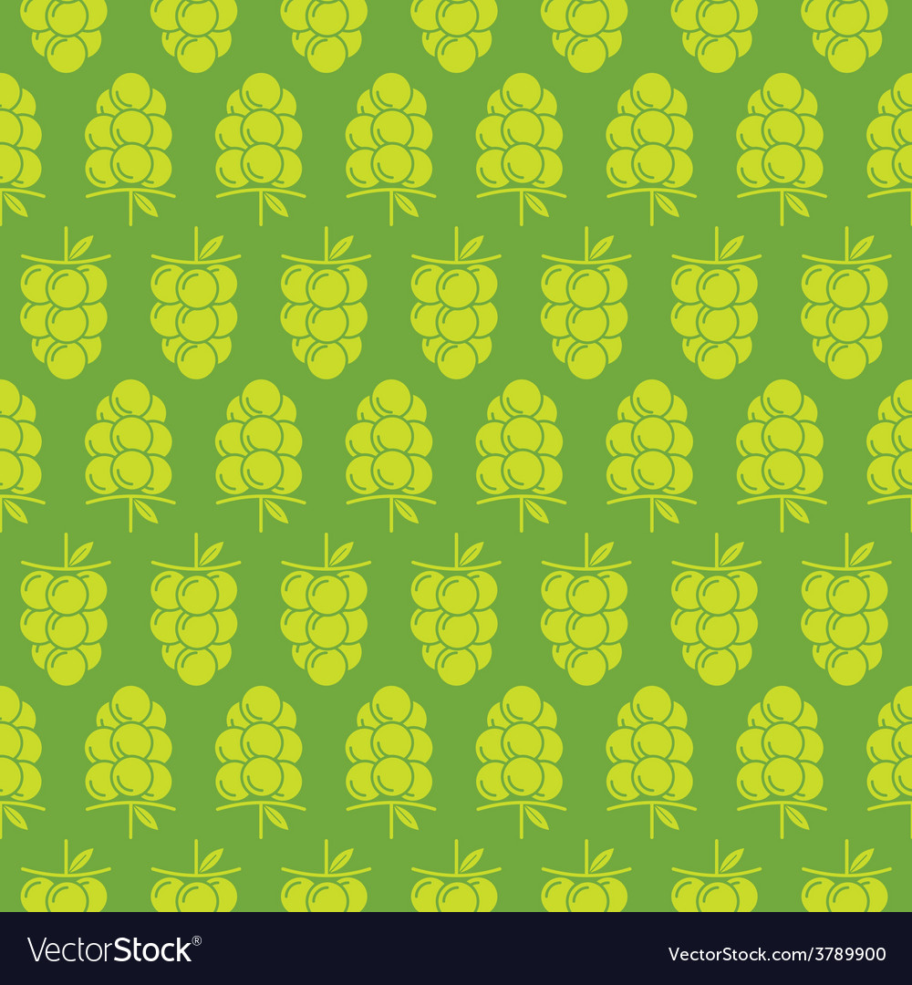 Green grapes bunch pattern design for wrapping vector | Price: 1 Credit (USD $1)
