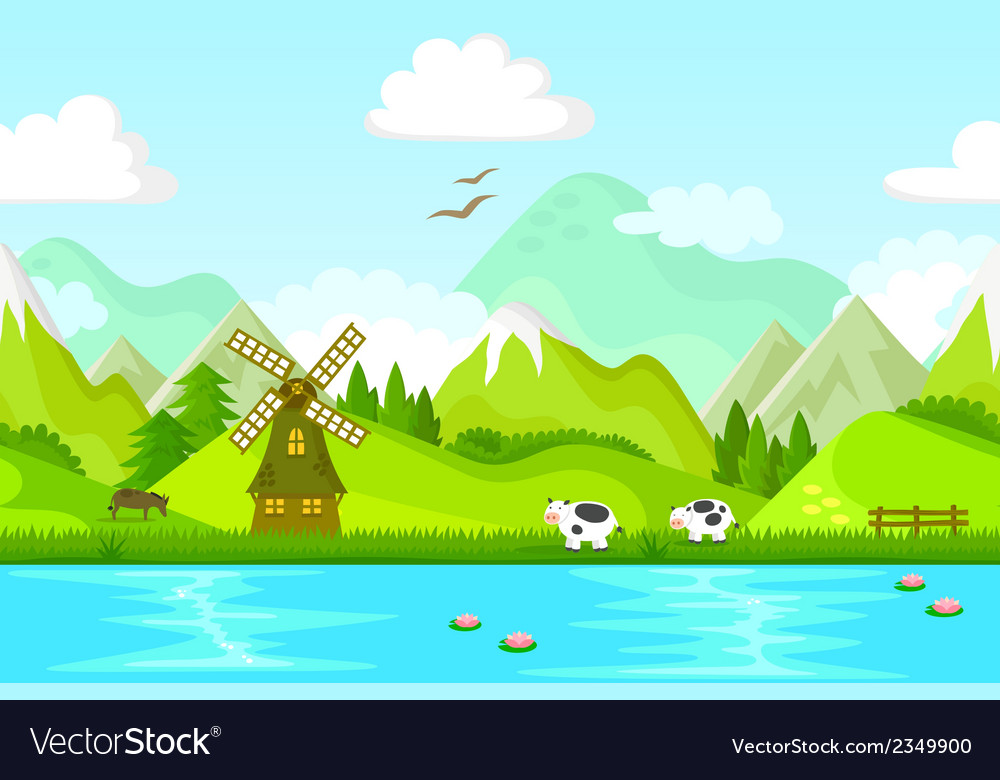 Landscape small vector | Price: 3 Credit (USD $3)